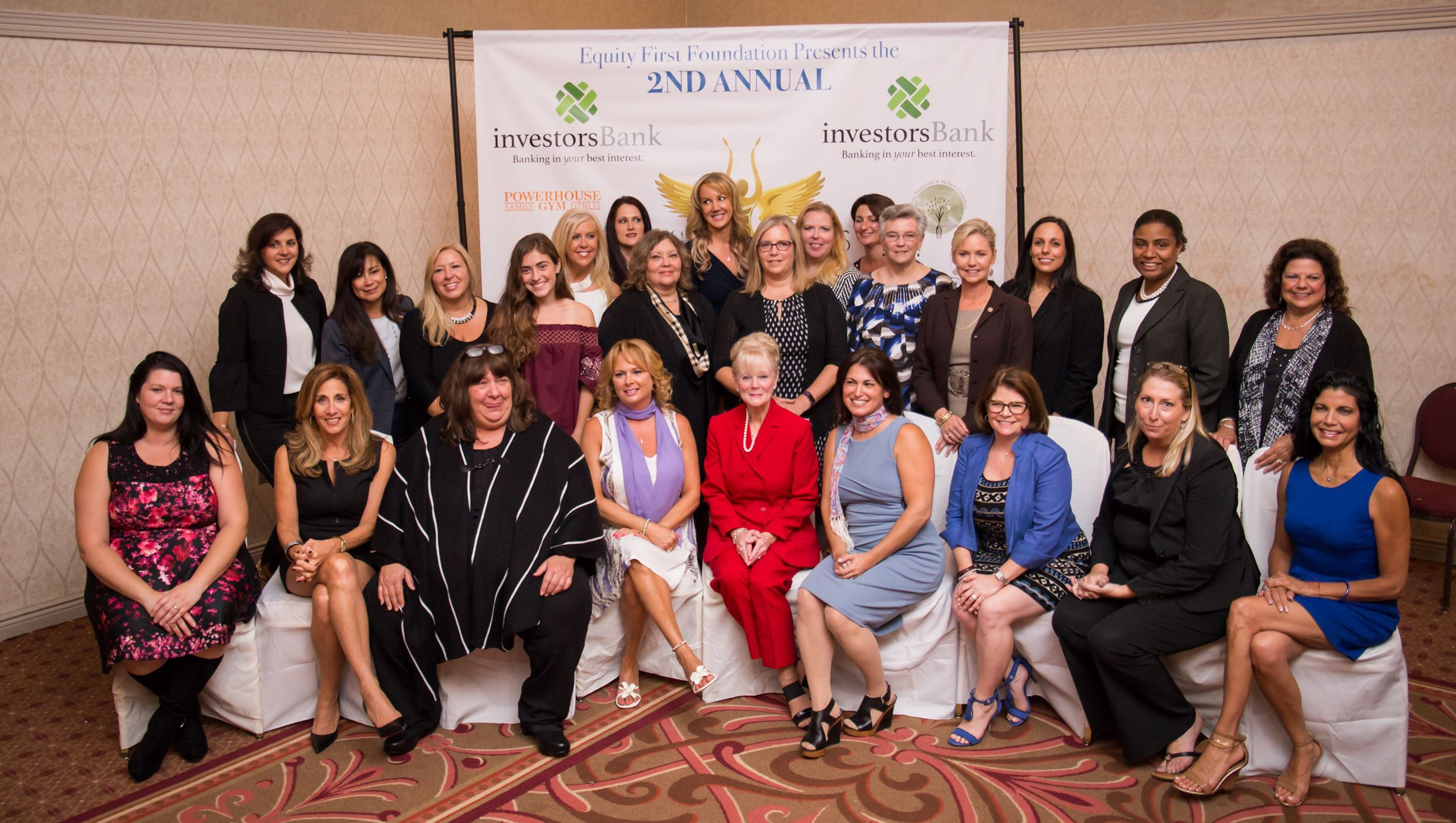Group of women who were honored at the Angel Awards for their community service.