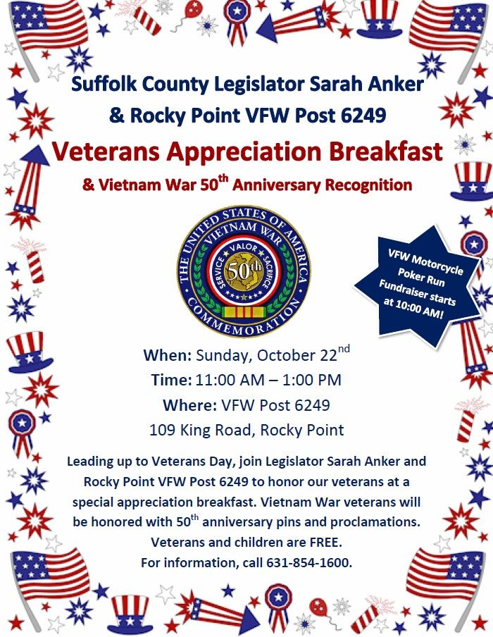 Veterans Appreciation Breakfast Flyer