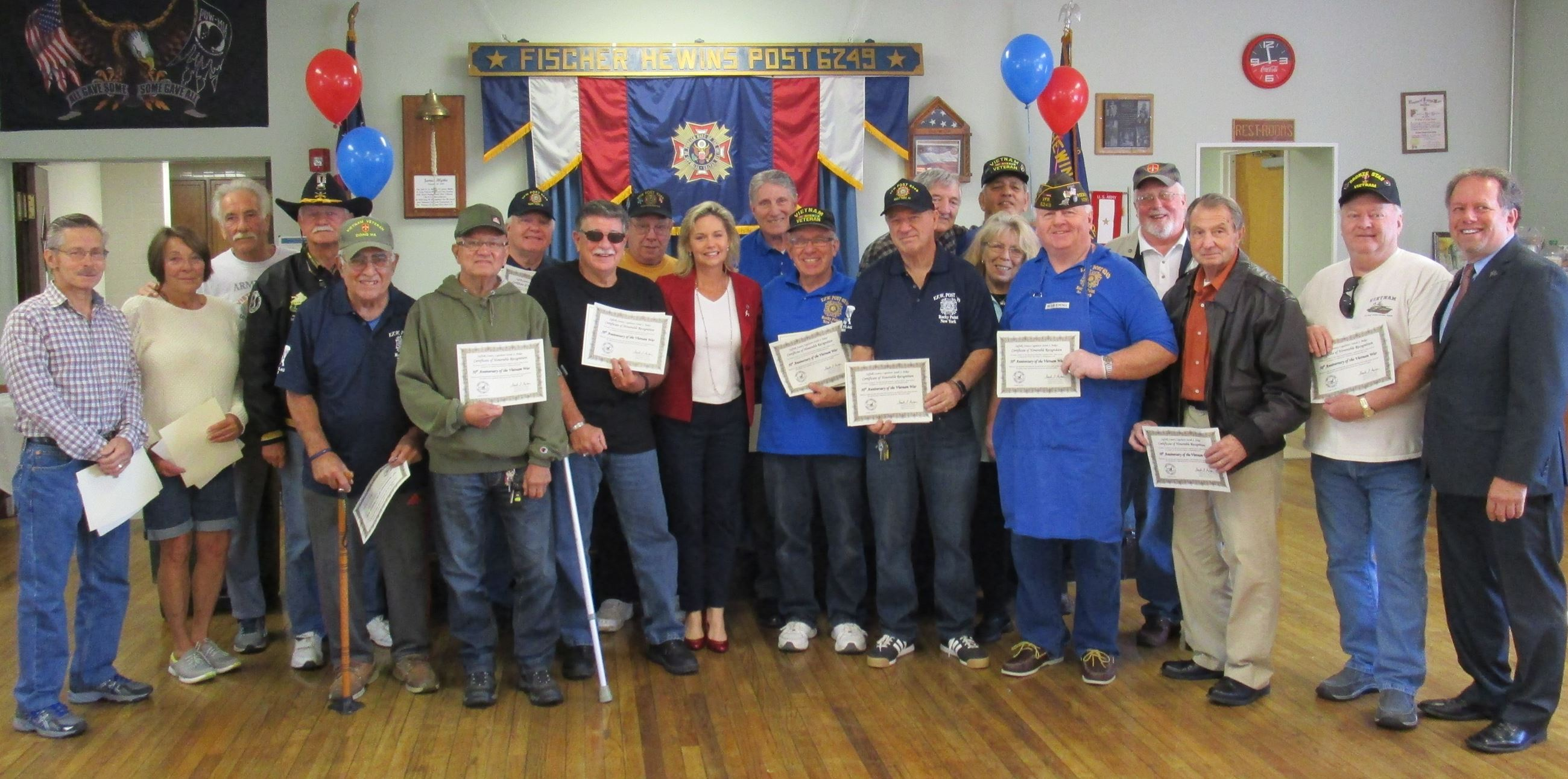 Legislator Anker honored local Vietnam Veterans with special proclamations.