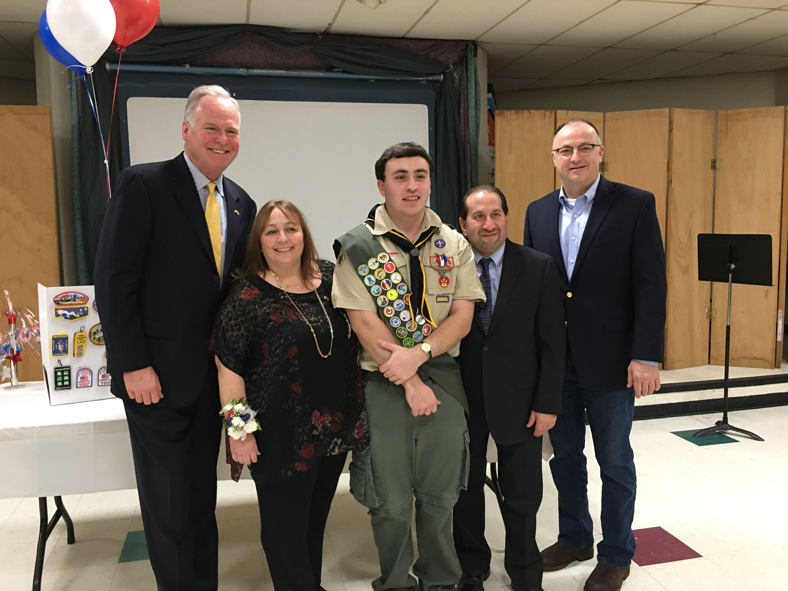 Suffolk County Legislator Rob Trotta congratulated Eagle Scout Josh Witt