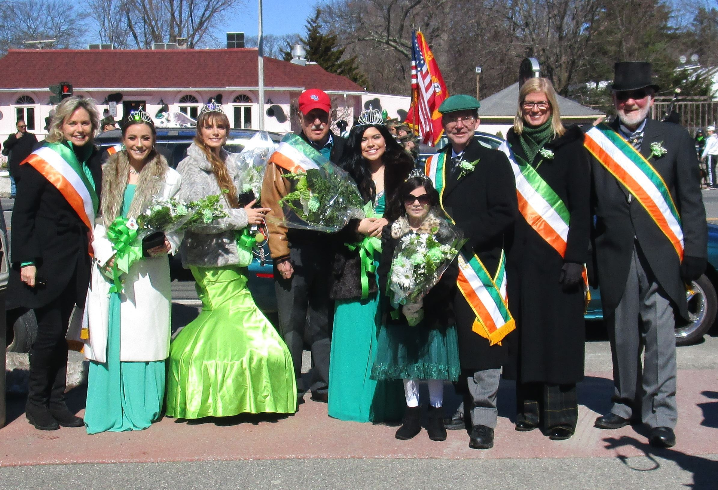 Legislator Anker with local elected officials at the St. Patrick's Day Parade.