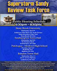 Superstorm Sandy Review Task Force Public Hearing Schedule 2018