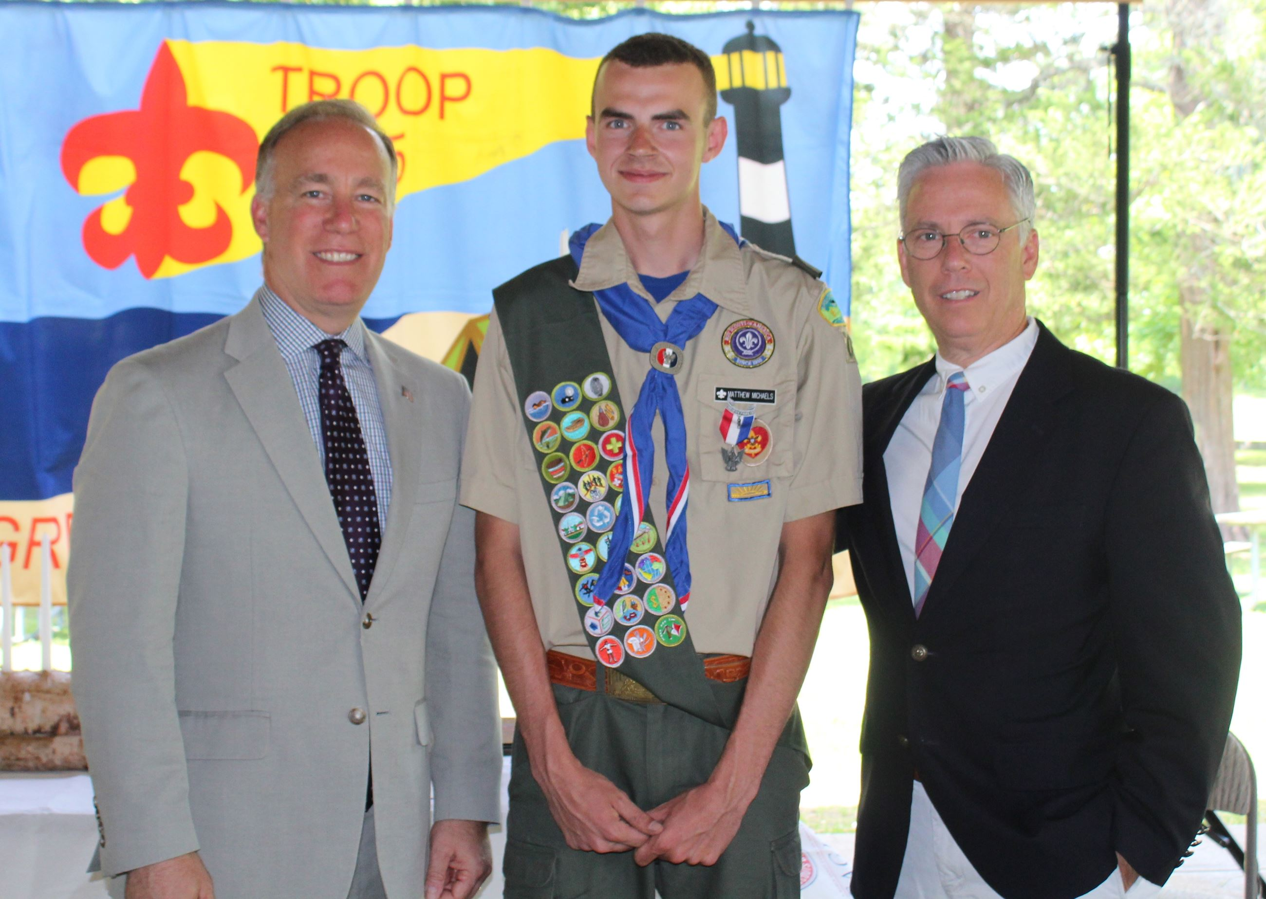 Eagle Scout Michaels with Leg Cilmi and Flotteron