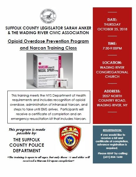 Narcan Flyer - Wading River