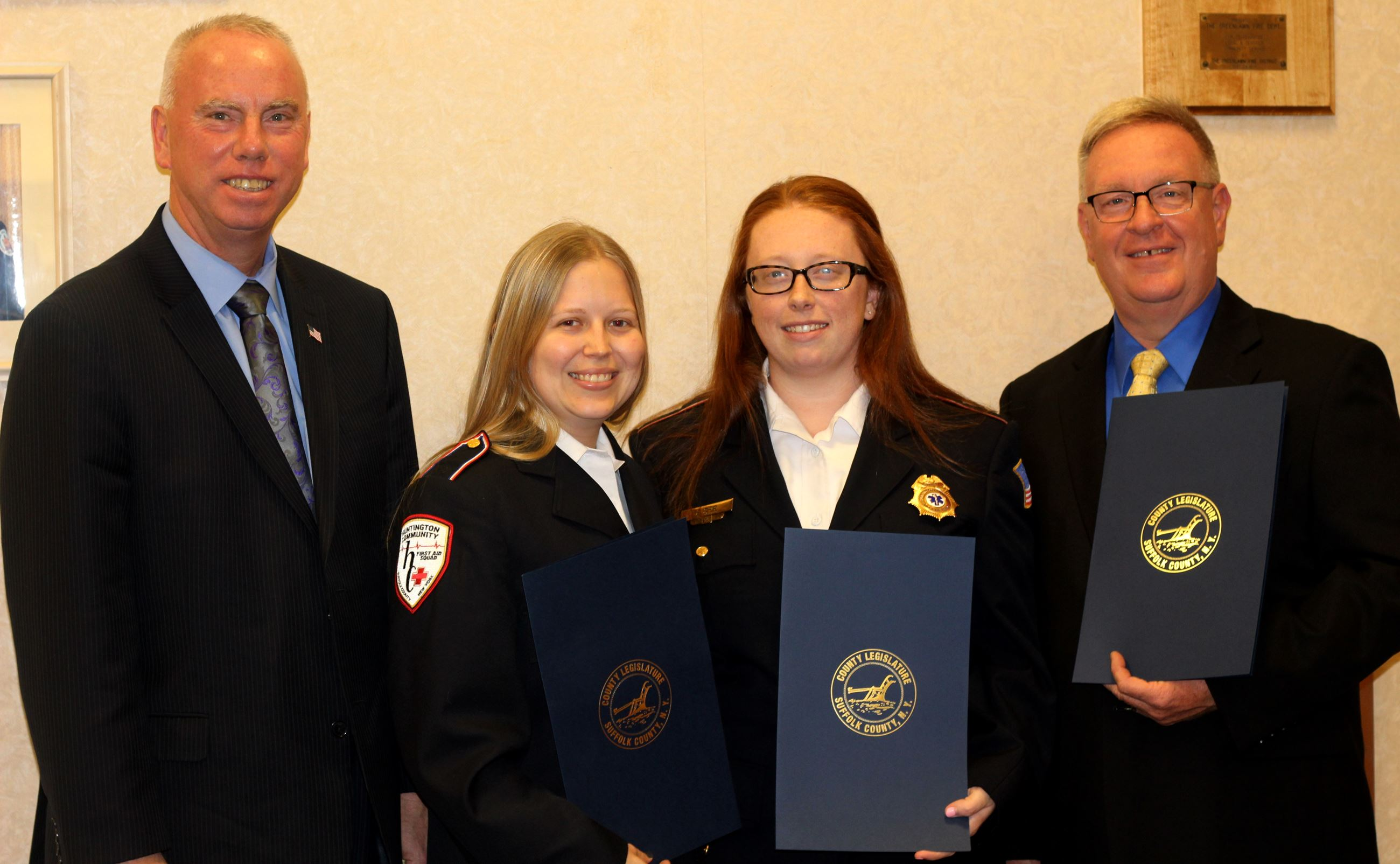Huntington Community First Aid Squad REMSCO Award Recipients