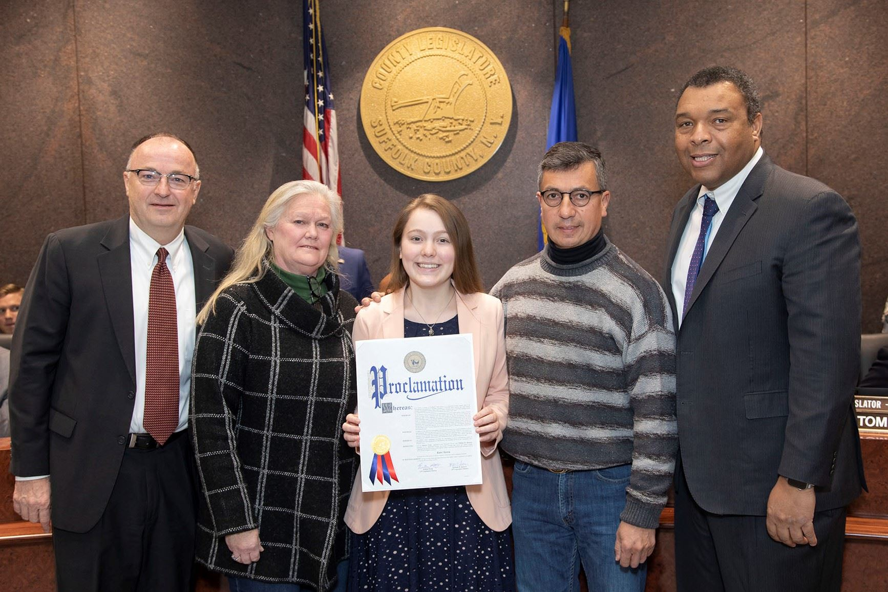 Katie Sierra, Northport High School Senior, Regenron Science Scholar, Recognized by Suffolk County L