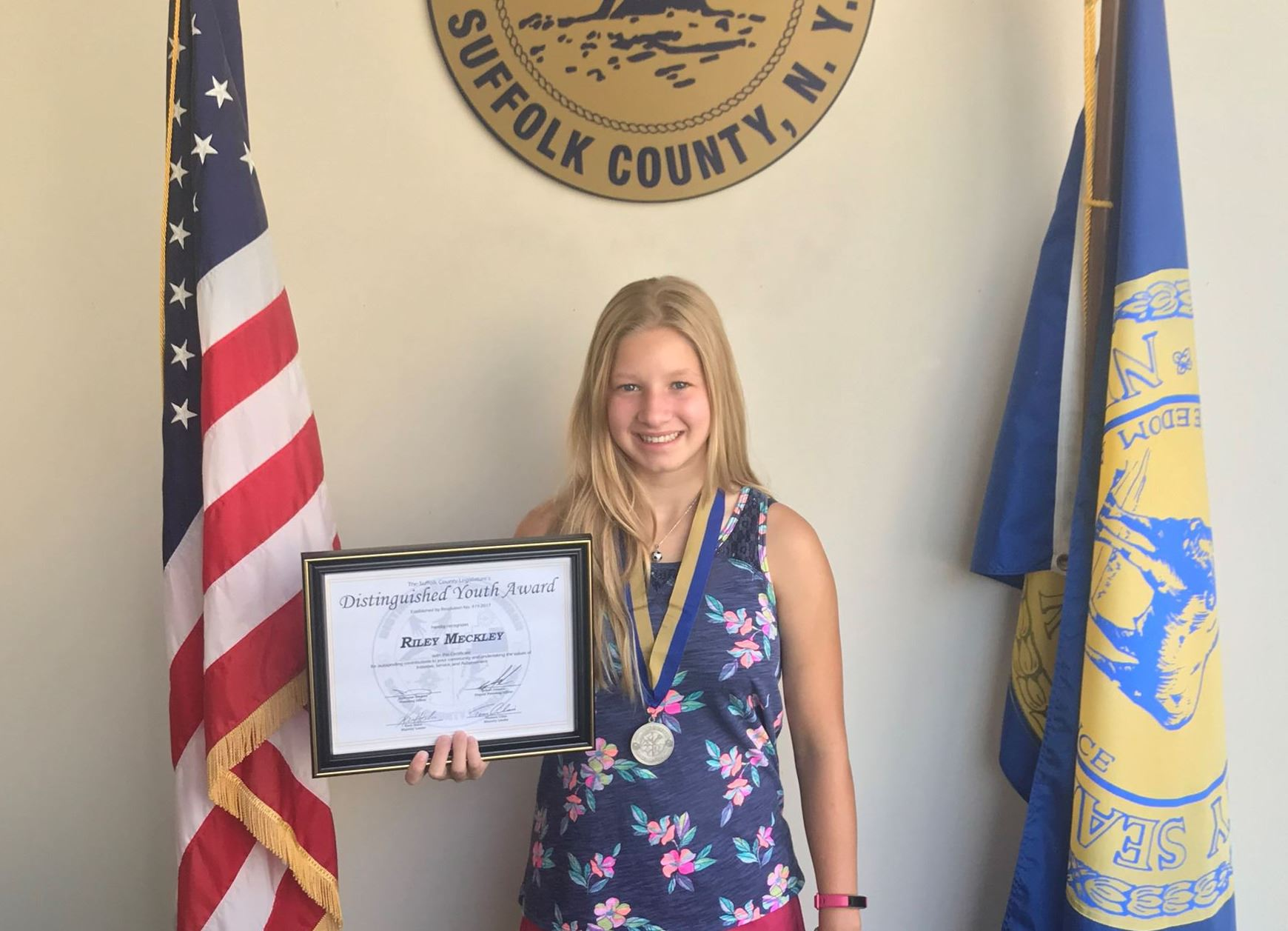Riley Meckley Earns Silver in Legislature's Distinguished Youth Award program