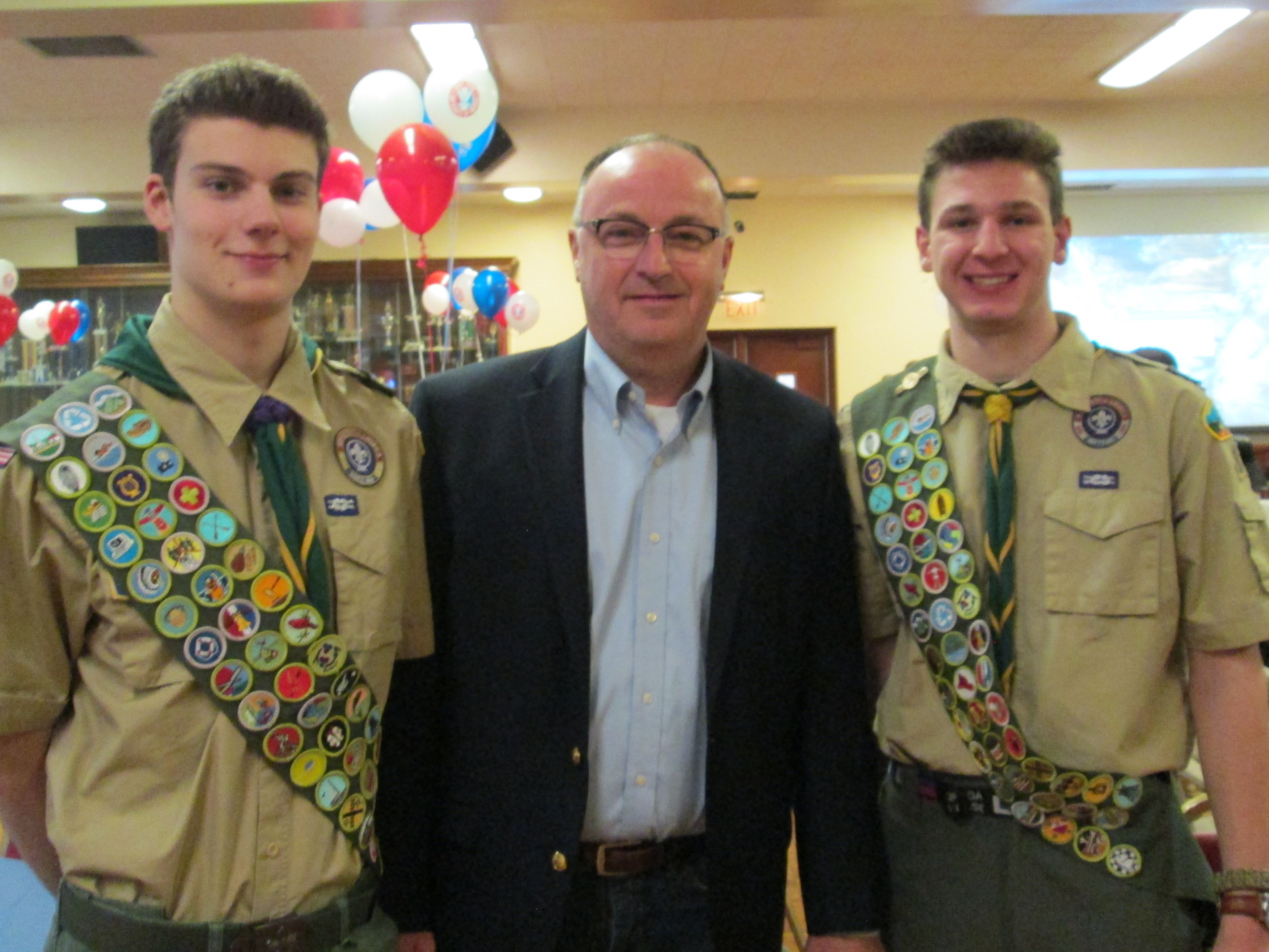 Eagle Scouts Ben and Jack
