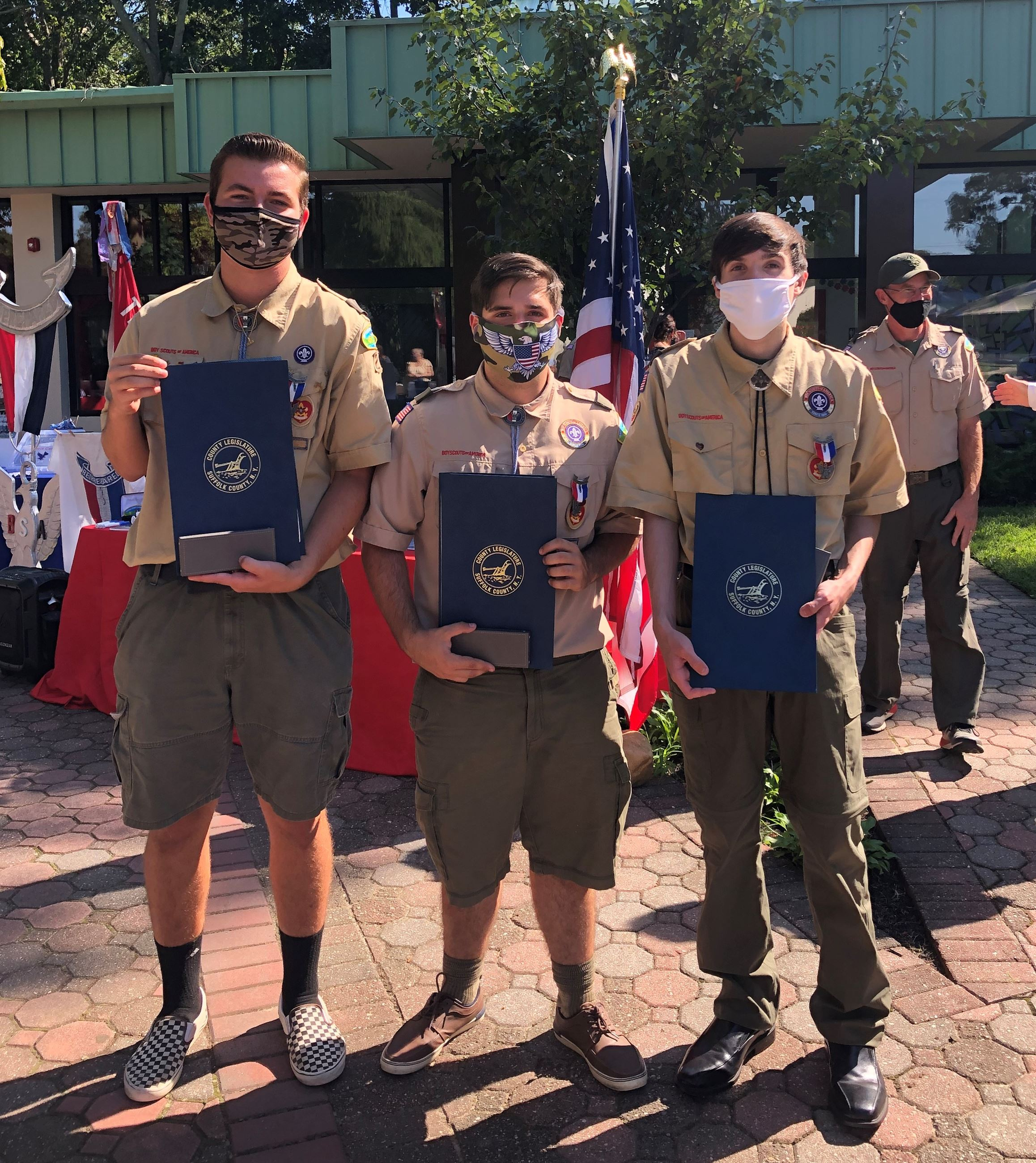 Newest Eagle Scouts of Troop 244 Justin Giardelli, Chase Fusaro, Christopher Carman