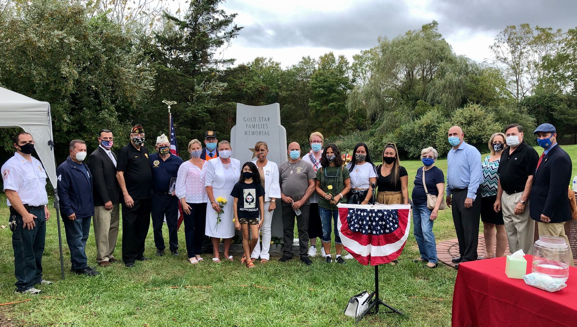 Gold Star Families, Local Elected Officials, Middle Island Civic and community members